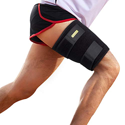 Oberschenkelbandage kompression oberschenkel bandage mit klettverschluss und rutschfester Gurt für Oberschenkel und Ischiasnerven Schmerzlinderung, Prävention von Muskelzerrungen und Rehabilitation -