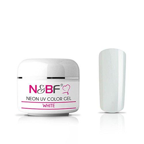 Gel couleur Fluo White 5 ml-Premium Professional UV Color Gel