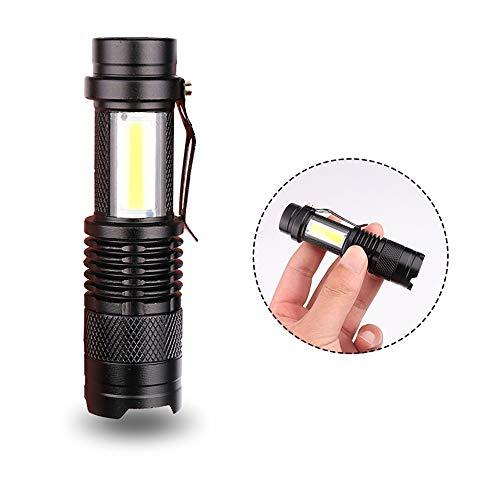 Mini-LED-Taschenlampe, 3800lm USB-wiederaufladbare 3Modes einstellbar Zoomable Mini-Taschenlampe-Fokus-Licht für Camping Wandern Radfahren -