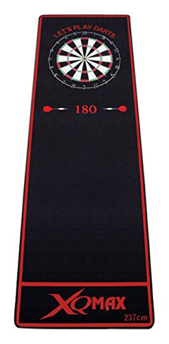 XQMAX Dartmatte, schwarz/rot, 80x237cm