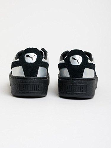 Basket, couleur Argent , marque PUMA, modÚle Basket PUMA BASKET PLATAFORM EXPLOSIVE Argent Black Black