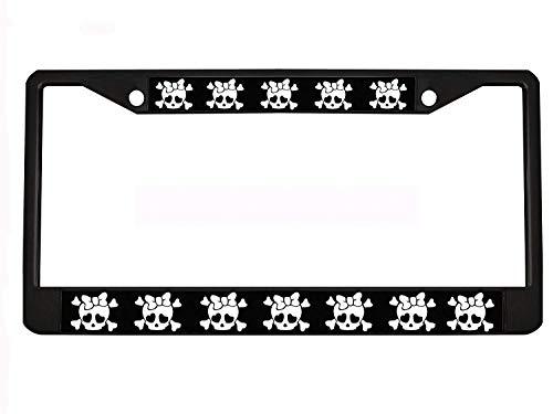 Totenkopf schwarz Metall Auto Nummernschild Bilderrahmen Auto Tag Halter (Chevy Totenkopf)