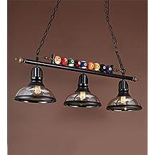 Lámparas de techo, Retro lámpara de hierro de billar industrial American Creative Salón Café Restaurante Bar Luz , Para estudio / oficina / dormitorio / sala de es ( Color : B-3 headlights )