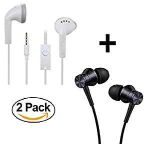 DAD Superior Sound Quality Earphones | COMBO PACK | Supports All Smartphones like LG L60 Dual (Pack of 2)
