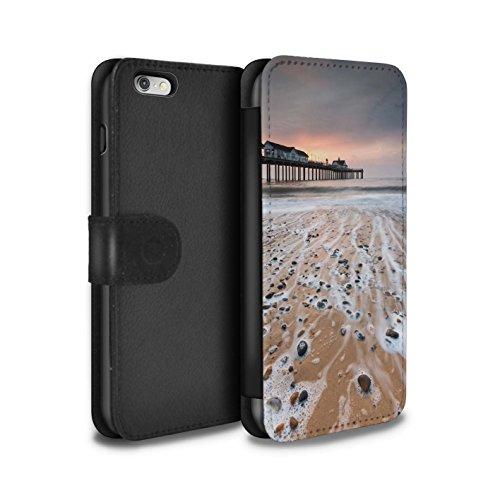 Stuff4 Coque/Etui/Housse Cuir PU Case/Cover pour Apple iPhone 6S+/Plus / Passerelle en Bois Design / Bord Mer Anglaise Collection Pierres/Cailloux