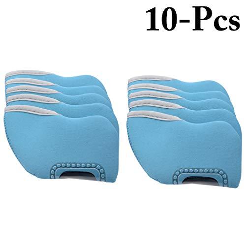 Fansport 10PCS Golf Club Kopf Abdeckung Einfache Golf Eisen Abdeckung Kopfschutz -