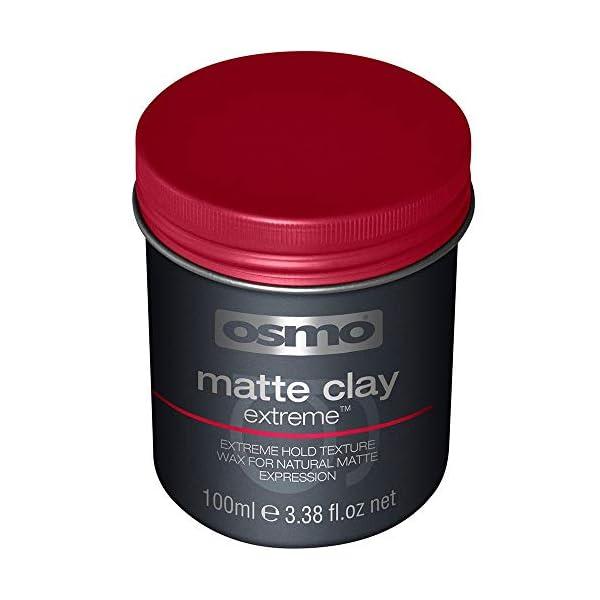 Osmo – Cera para el pelo mate Extreme de alta fijación para moldeado del cabello (arcilla mate, 100 ml)