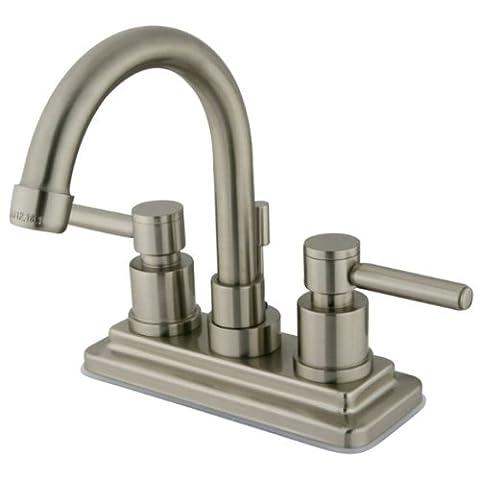 Kingston Brass KS8668DL 4 Inch Center Lavatory Faucet - Satin