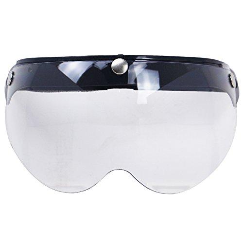 Walmeck Visiera per Casco Moto Visiera Frontale Antivento Universale con Visiera Parasole per Occhiali da So