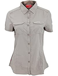 Craghoppers Womens/Ladies NosiLife Adventure Short Sleeve Insect Repellent Shirt (18) (Mushroom)