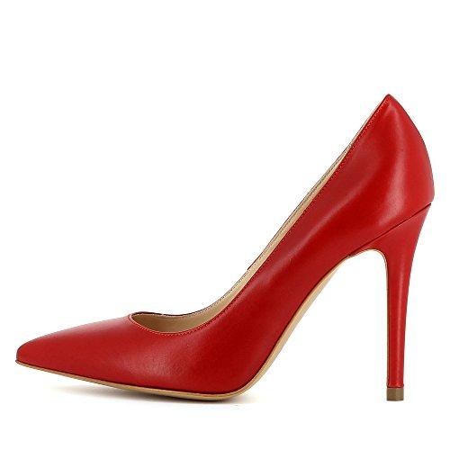 ALINA Damen Pumps Glattleder Rot