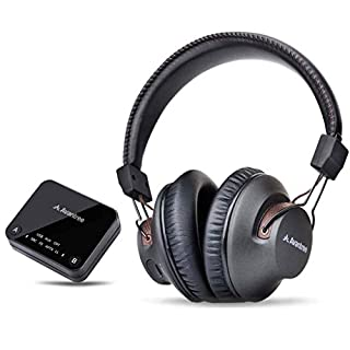 Avantree HT4189 Wireless Headphones for TV Watching & PC Gaming with Bluetooth Transmitter (OPTICAL DIGITAL Audio, 3.5mm AUX, RCA, PC USB) Plug & Play, No Delay, 100ft Long Range, 40hrs Battery