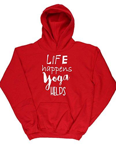 hippowarehouse-life-happens-yoga-helps-kids-unisex-hoodie-hooded-top