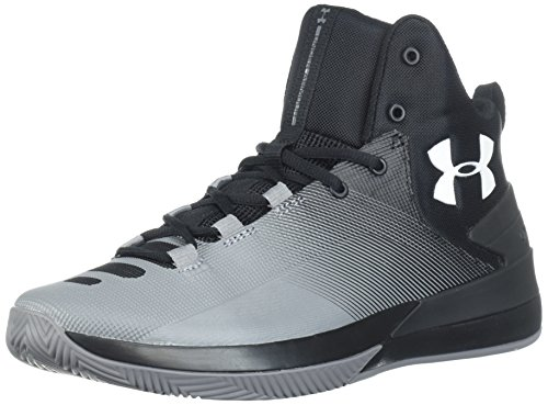 Under Armour Men's Rocket 3 Basketball Shoes, Scarpe da Basket Uomo, Nero (Black 005), 42.5 EU