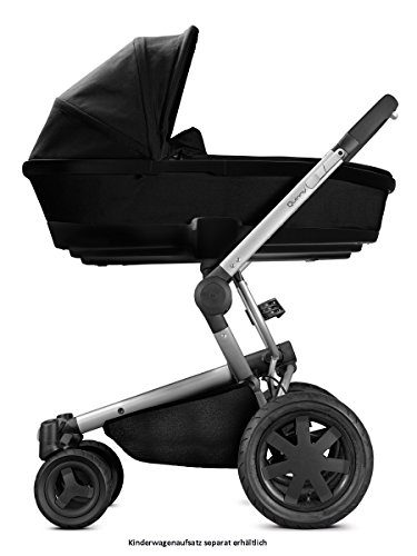 Quinny Buzz Xtra Kombi-Kinderwagen und Sportbuggy (ab der Geburt nutzbar mit Maxi-Cosi Babyschale, automatische sekundenschnelle Aufklappfunktion und robuste Reifen für jedes Gelände) schwarz
