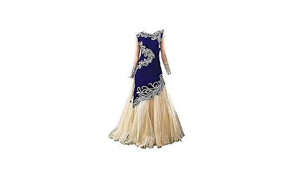 Buy Attingal Textile Girl S Tapeta Silk Semi Stiched Partywear Dress Kids 7 To 12 Years At Amazon In