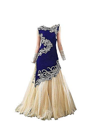 Yovi Empire Girl\'s Taffeta Silk Semi-Stiched Partywear Lehenga Choli (Kids_8 To 12 Years_ Age)