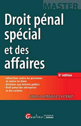 Droit pénal spécial et des affaires