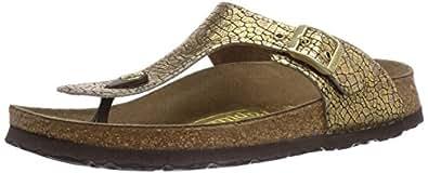 Papillio by Birkenstock Gizeh, Women's Sandals, Cassis Crack Gold, 2.5 UK