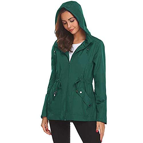 Regenjacke Leichte Jacke Damen MYMYG Wasserdicht Softshelljacken Outdoor Atmungsaktive Dünne...
