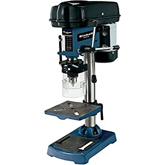 Einhell BT-BD 401 – Taladro de columna, 5 niveles, 580 – 2650 rpm, 350 W, 230 V, color negro y azul