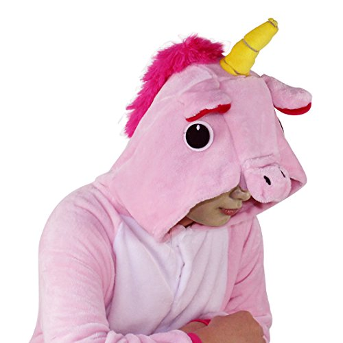 Unicorn Costume Adult Animal Jumpsuits Pajamas Animal Unicorn Jumpsuit Sleepwear Unisex Cosplay Costume for Women and Men Rosa