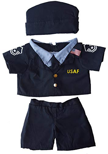 Air Force Uniform Outfit Teddy Bear Clothes Fit 14 - 18 Build-a-bear, Vermont Teddy Bears, and Make Your Own Stuffed Animals by Stuffems Toy Shop - Air Force Uniform