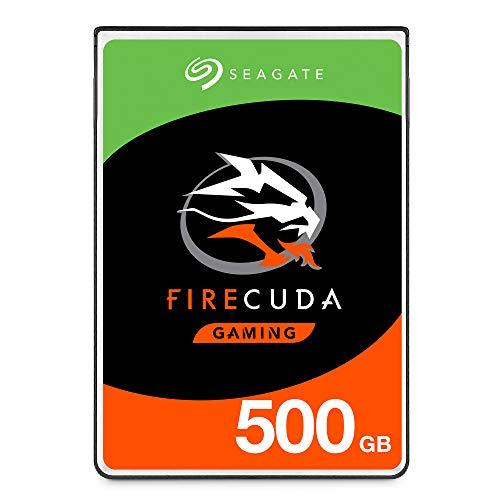 SeagateST500LXZ25 FireCuda 500 GB, SSHD intern Festplatte (6, 35 cm (2, 5 Zoll), 7 mm dünn, SATA 6 Gb/s, silber, FFP (Frustfreie Verpackung))