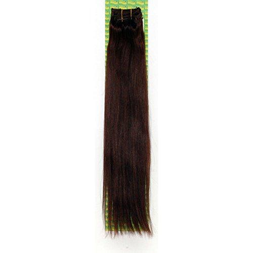'Dream Hair Extensions à clip Lot de 8 Pièces lisse 22/56 cm Acajou en cheveux