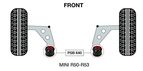 PSB polyuréthane Bush Mini R50,52,53 avant, arrière Bras de Wishbone bushing 66 mm - 2001-2007 (PSB 640)