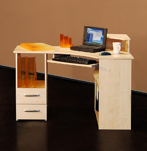 4505- 115cm - Eck-Schreibtisch - Computertisch, in ahorn