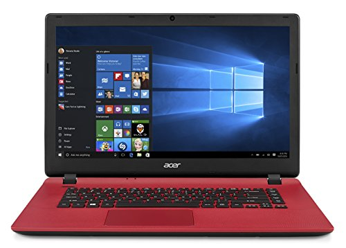 "Acer Aspire ES15 520-3778 - Ordenador Portátil de 15.6"" HD (AMD E1-2500, 4 GB RAM, 500 GB HDD, Windows 10); Rojo -Teclado QWERTY Español"