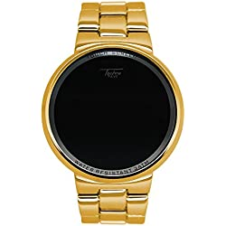 Techno Pavé Iced Out Gold Digital Touch Bildschirm Sport Designer Metall Band Armbanduhr