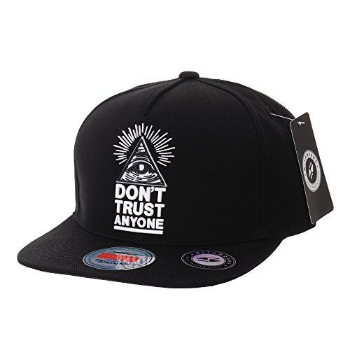 WITHMOONS Casquette de Baseball Snapback Hat Illuminati Patch Hip Hop Baseball Cap AL2390