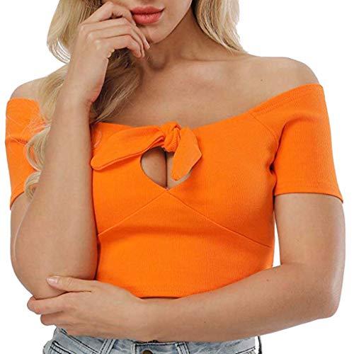 TOPSELD Top Damen, Frauen Nehmen Tank Tops Sexy Crop Kurzarm T-Shirt Bluse