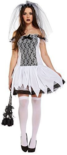 ncy Dress Costume (Black/White) (Kreative Halloween Kostüme Mit Schwarzem Kleid)