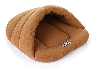 sfnet Coussin pour chien Nid chenil Maison pour chien chat Sac de couchage Tapis Chaud Doux Lit Couverture