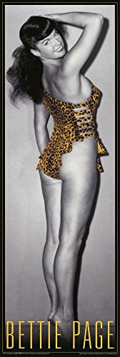 Bettie Page – Leopard (Slim) Art Print Póster