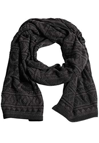 khujo Herren Schal JOONA breiter Baumwoll-Schal mit verschiedenen Strickmustern