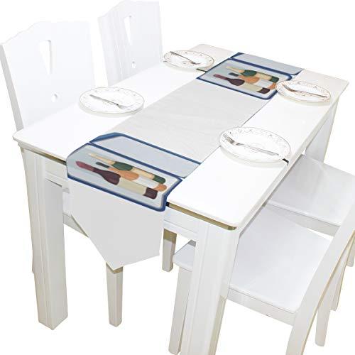 sche Muster Kommode Schal Tuch Abdeckung Tischläufer Tischdecke Tischset Küche Esszimmer Wohnzimmer Home Hochzeitsbankett Decor Indoor 13x90 Zoll ()