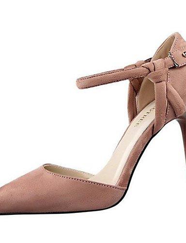 WSS 2016 Chaussures Femme-Habillé / Soirée & Evénement-Noir / Rose / Violet / Rouge / Gris-Talon Aiguille-Talons-Talons-Synthétique gray-us6 / eu36 / uk4 / cn36