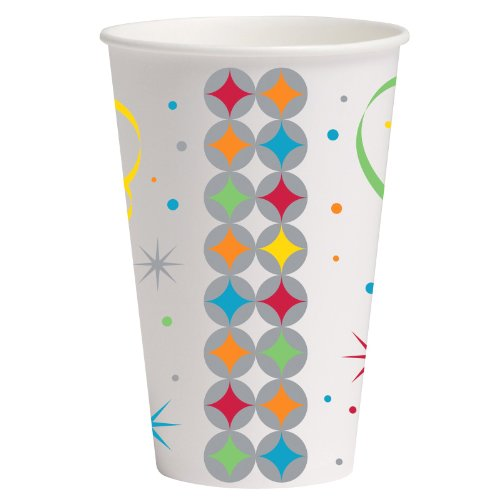 Creative Converting 235085 Celebrate In Style 12 oz. Paper Cups