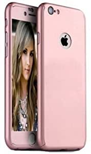 iPaky Front & Back Cover for Apple iPhone 6 & 6s Rose Gold with Free Tempered Glass