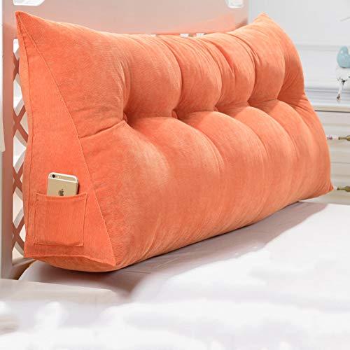 Preisvergleich Produktbild QWERTYUI Sofa Polyester gefüllt Rückenlehne-Kissen,  Kopfteil Am krankenbett Tatami Abnehmbarer Bezug waschbar Polstermöbel Hals Taille Dreieckiger keil Bedside Kissen-C 90x50x20cm(35x20x8inch)