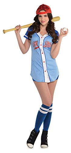 er Womens Jersey Dress Costume (Women: 8-10) by Amscan (Baseball Kostüm Kinder)
