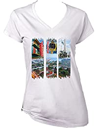 teesquare1st Argentina Buenos Aires Camiseta para Mujer de Algodon