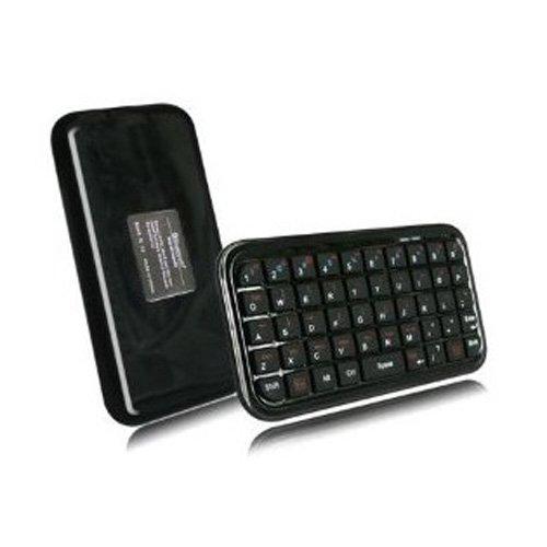 SODIAL(Wz.) Schwarz Mini Bluetooth Wireless Tastatur Keyboard fuer iPhone 4, iPad, iPaq, PDA, MAC, OS, PS3, Droid, Smart Phones, PC, Computers