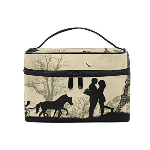 ake-up Kosmetiktasche Tasche,Travel Cosmetic Bag Lovely Tree Eiffel Tower Toiletry Makeup Bag Pouch Tote Case Organizer Storage for Women Girls ()