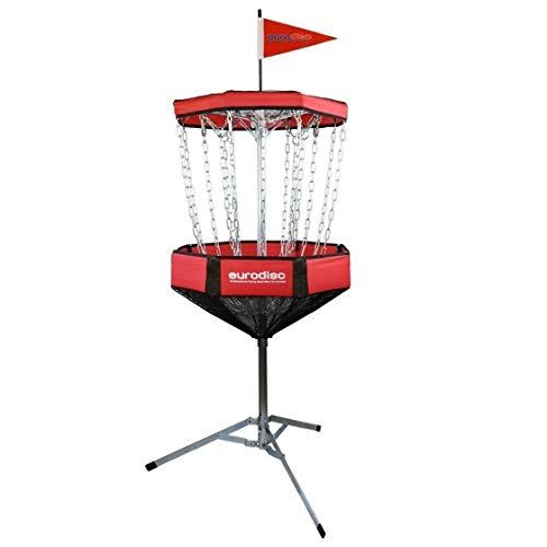Eurodisc CHAINWALKER ROT Disc Golf Korb ähnlich DGA Mach-Lite, inkl. 1x Putter -