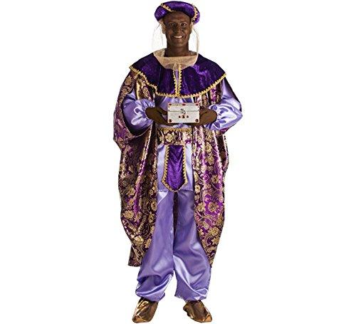 Für Kostüm König Erwachsene Balthasar - EL REY DEL CARNAVAL, SL Weihnachtlicher Balthasar König für Erwachsene M/L